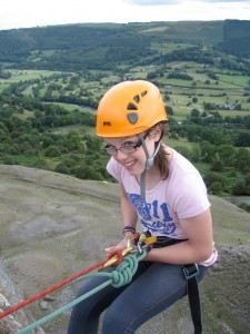 Getting over the edge of the abseil