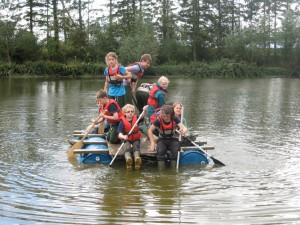 The raft was a great success