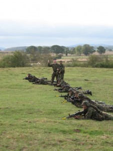 Waiting to cut off our escape at the end of the exercise