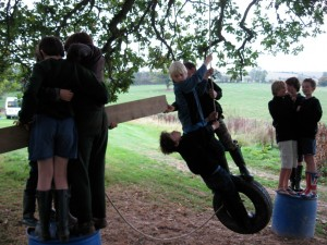 Pulling together on the Tyre Swing