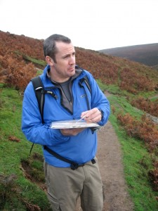 Paul relating the map to the ground