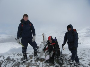 The summit of Beinn Liath Mhor Fannaich