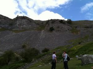 Taking a break below the Llangollen Escarpment